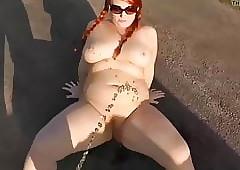 Tiener meisje pissing - naakte meiden kutje